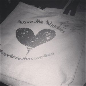 My Love Me With Lies tote signed by my favorite lady, Tarryn Fisher!